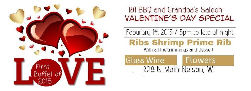 J&J BBQ Valentine's Day Special